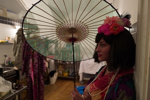 1_Modelka v kimonu se sbírky Kumie Holy_foto Daniel Šperl_repro zdarma